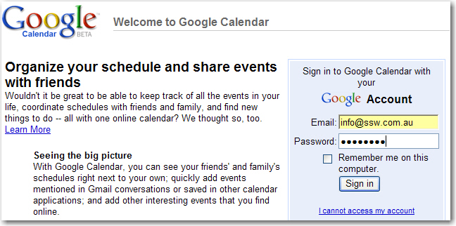 how to add email addrss on google calender