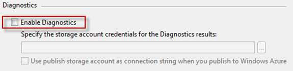 azure disable diagnostics
