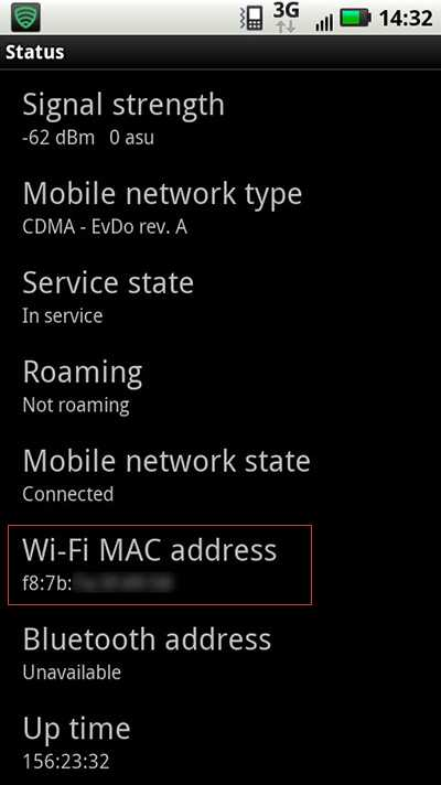android mac address