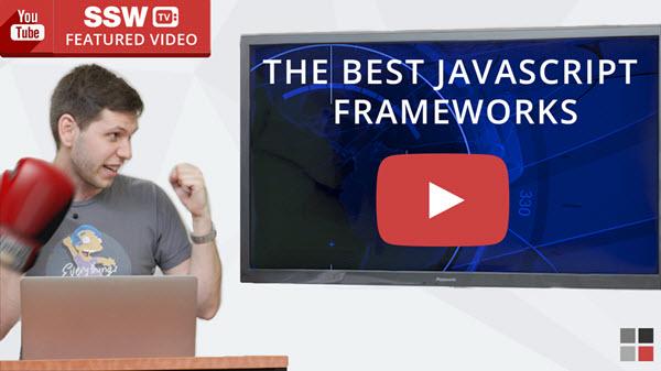 High Fashion and Javascript Frameworks