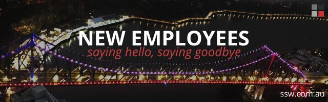 New employees - saying hello, saying goodbye