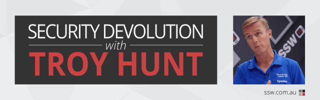 Security Devolution with Troy Hunt