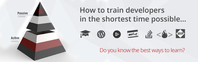 I have learnt how to train developers in the shortest time possible