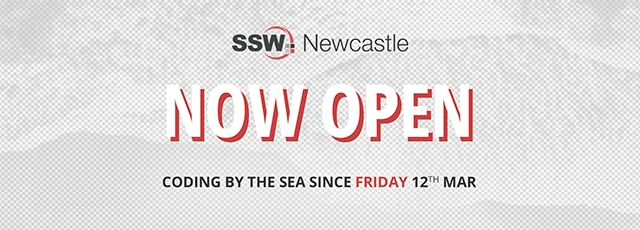 SSW Newcastle now open! We are coding by the Sea