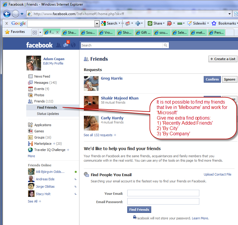 SSW Facebook Suggestions