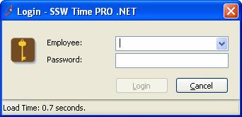 SSW Time PRO .NET - Login