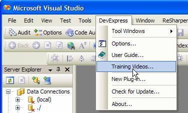 Training Videos menu item