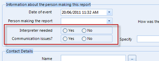 Radio buttons are not appropriate when there are only two options