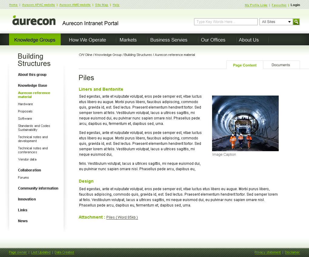 a clean interface consistent with aurecon branding guidelines aurecon sydney offices