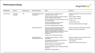 sample consultant reports